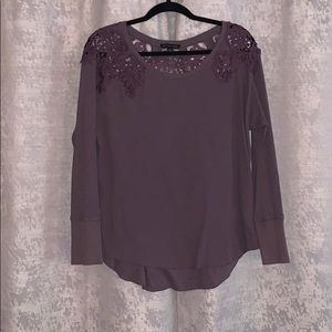 AE Waffle Lace top
